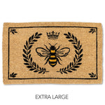 Extra Large Bee in Crest Doormat