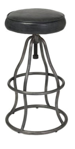 Brooklyn Bar Stool Distressed Black Leather
