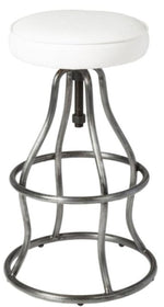 Brooklyn Bar Stool White Leather