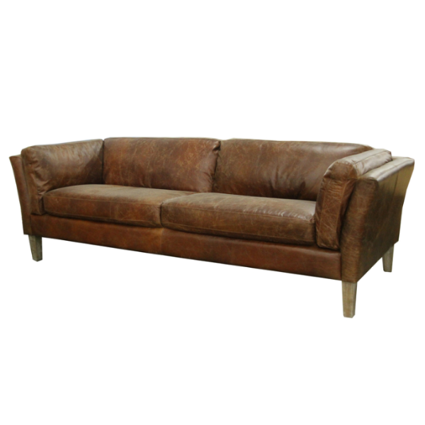 Admirable Manhattan Sofa In Distressed Brown Leather Short Links Chair Design For Home Short Linksinfo