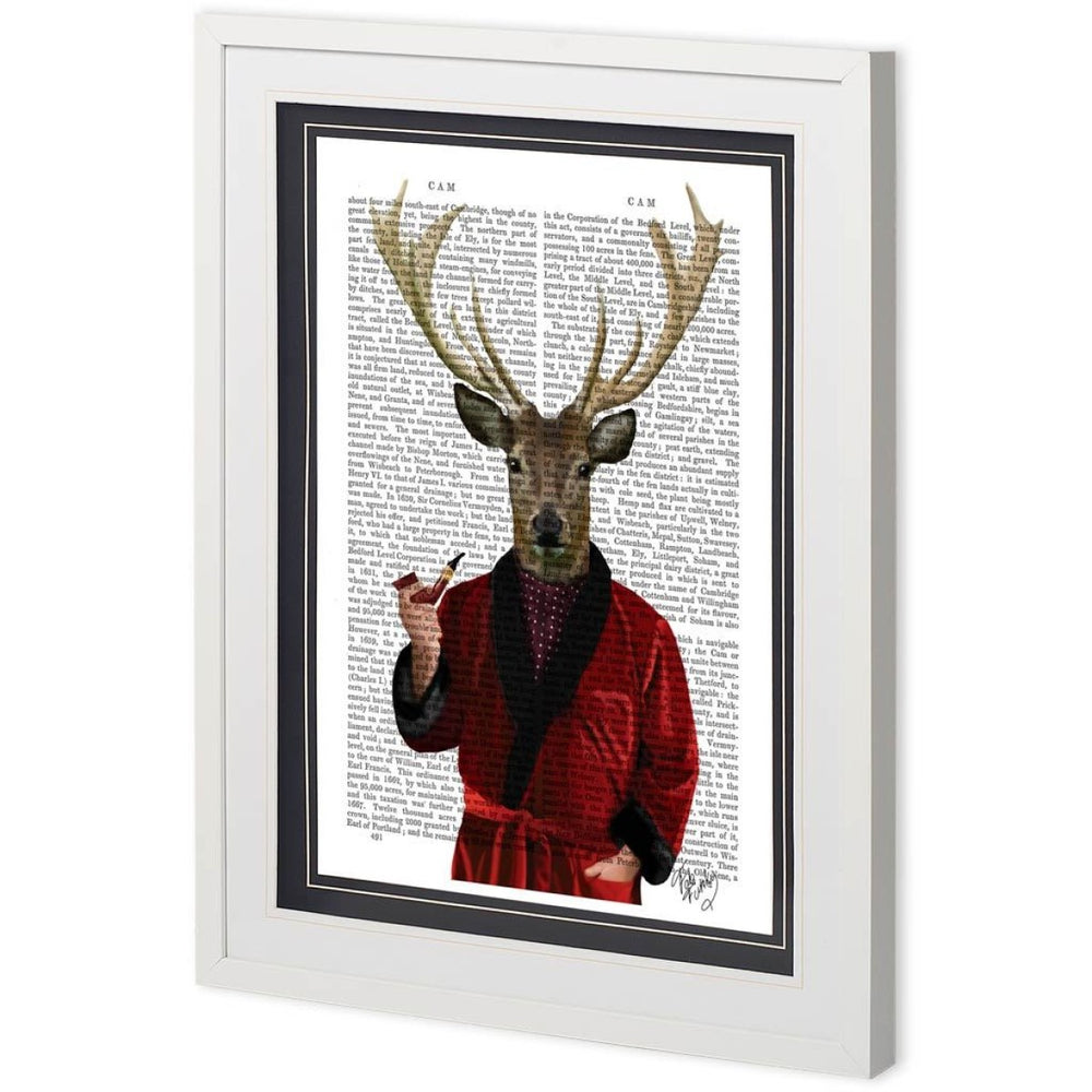 Deer In Smoking Jacket