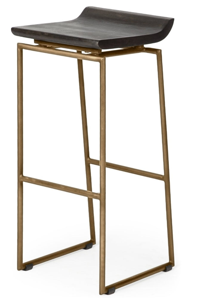 Givens Bar Stool Gold Frame