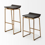 Givens Counter Stool Gold Frame
