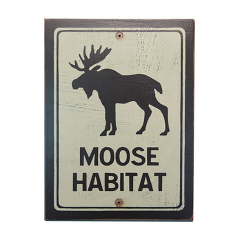 Moose Habitat Sign
