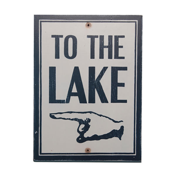 To The Lake (left) Sign