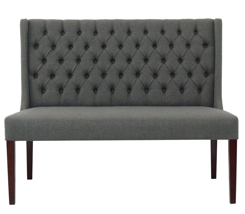 Lauren Tufted Bench- Graphite