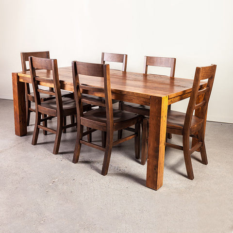 Wide Plank Pine Loft Dining Table