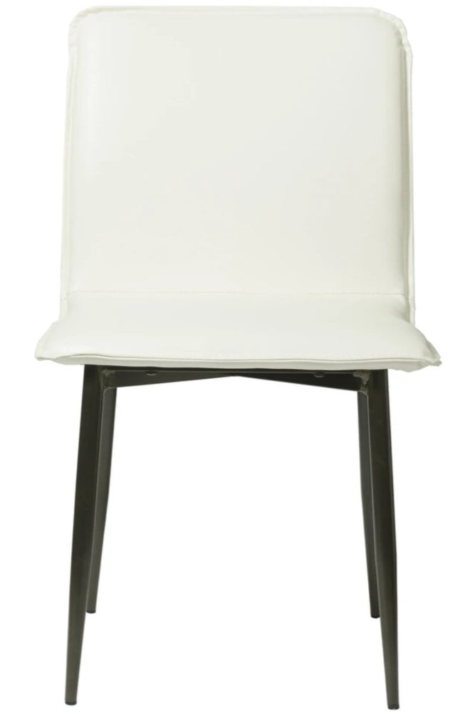 """LH Imports. Luca Side  Chair - White Fox. Contemporary Style."""
