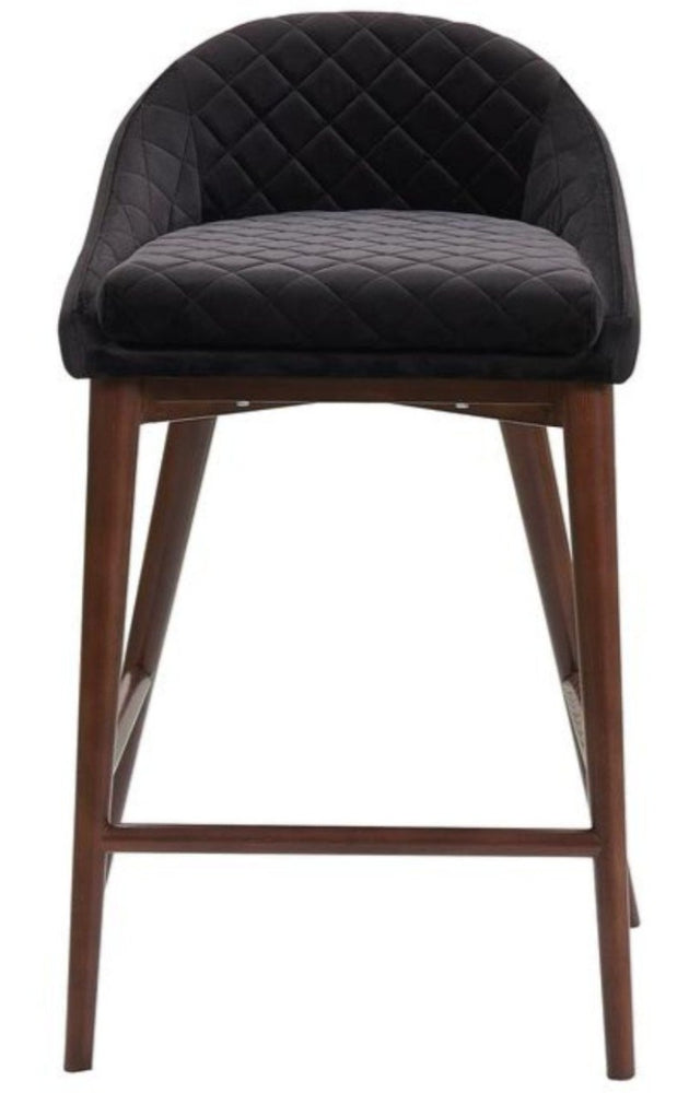 Mila Counter Stool Black Valvet