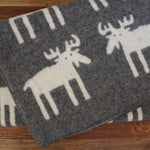 Moose Wool Blanket Grey
