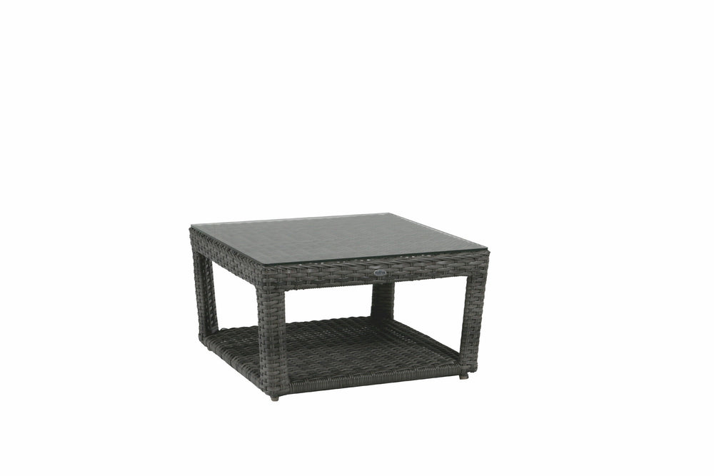 Portfino Coffee Table with Clear Glass top