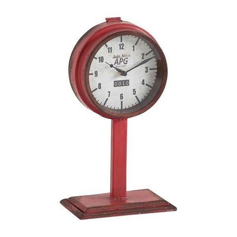 Red Odometer Clock