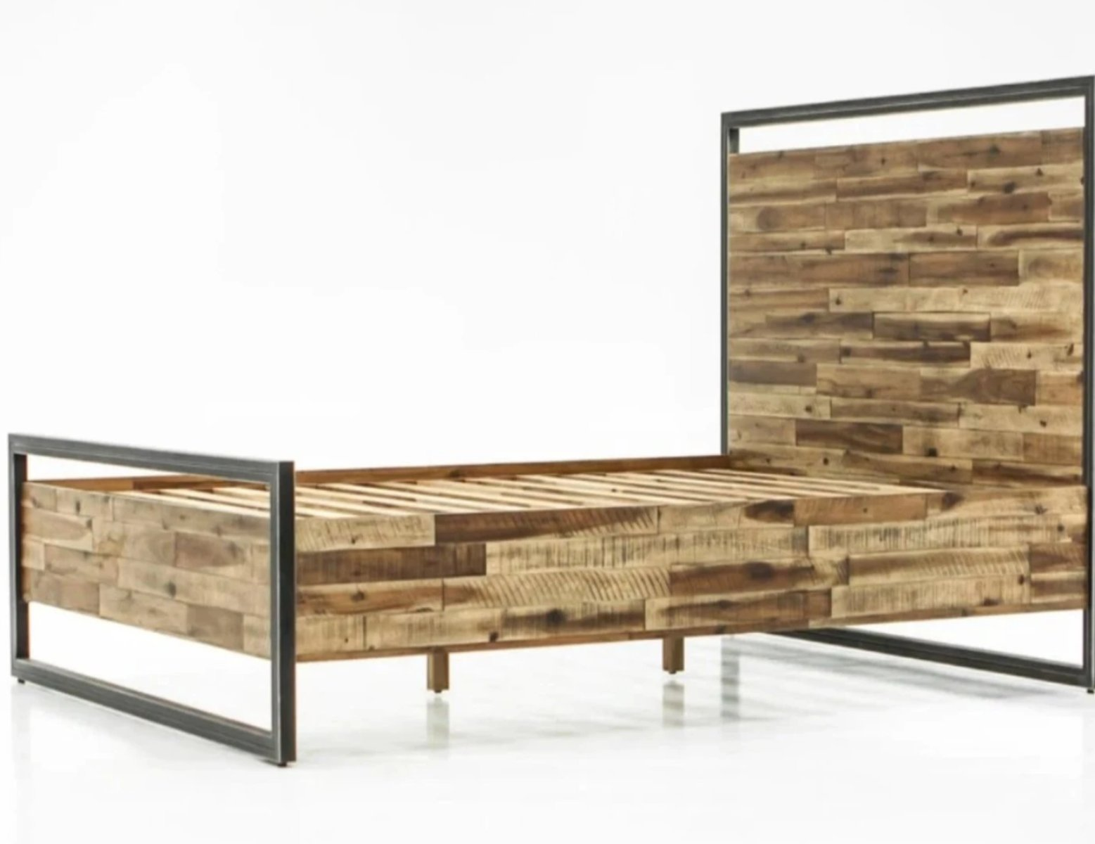 Lh Imports Jaxon Bed Reclaimed Wood Steel Industrial Style The Urban Settler