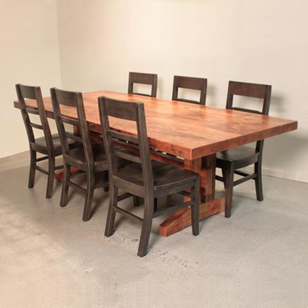 Craftsman Trestle Table - Reclaimed Fir