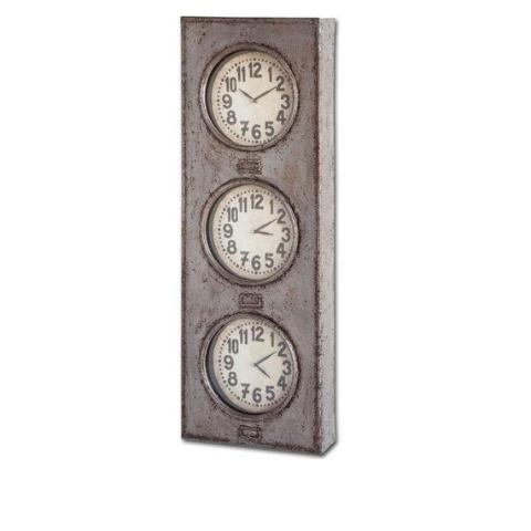 Triptych Time Zone Clock