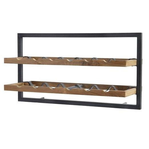 Primitive Collection Metal Frame Wall Wine Rack (type A)