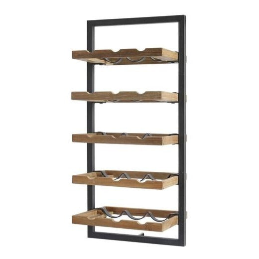 Primitive Collection Metal Frame Wall Wine Rack (type E)