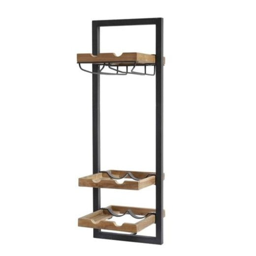 Primitive Collection Metal Frame Wall Wine Rack (type D)
