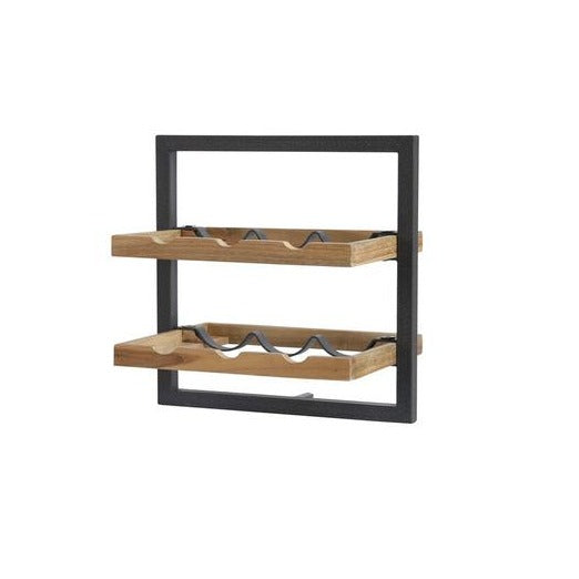 Primitive Collection Metal Frame Wall Wine Rack (type B)