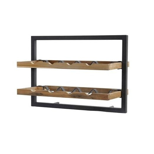 Primitive Collection Metal Frame Wall Wine Rack (type C)