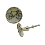 Flat Metal Bicycle Knob