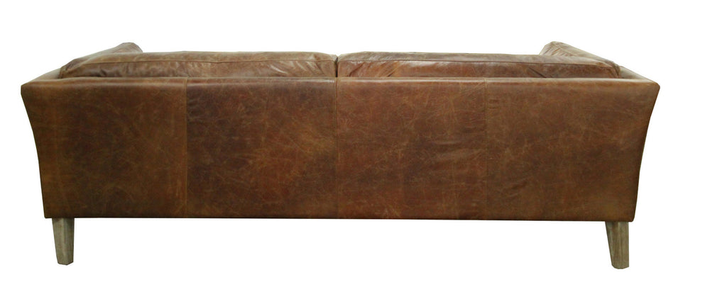 Manhattan Sofa in Distressed Brown Leather