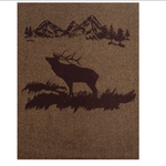 Rocky Mountain Elk Wool Blanket