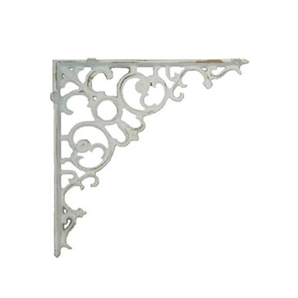 White Scroll Shelf Bracket