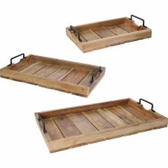 Wood Slotted Tray