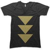 Flying Geese V-Neck (Black + Gold)