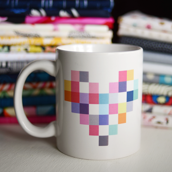 Patchwork Heart Mug