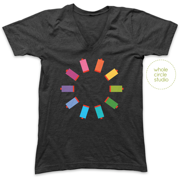 Sew Many Colors Tee (Black)
