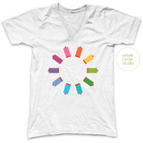 Sew Many Colors Tee (Heather White)