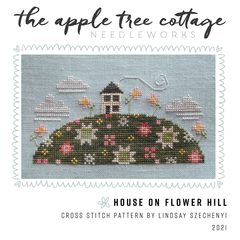 House on Flower Hill Cross Stitch Pattern (PDF Download)