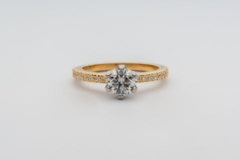 6 claw diamond engagement ring