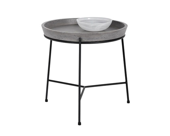 Pepper End Table - Black - Grey