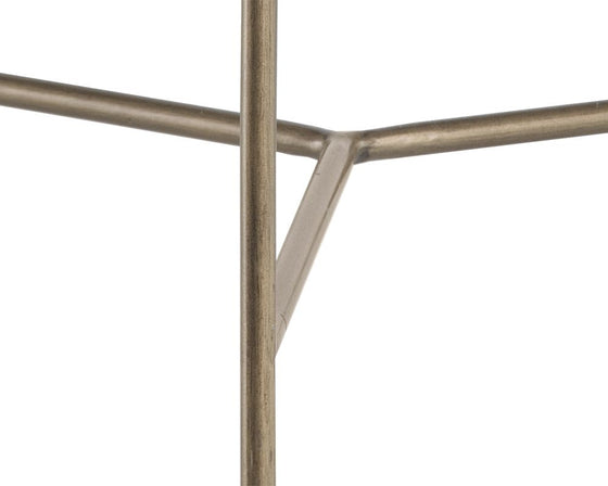 Pepper End Table - Antique Brass - Ivory