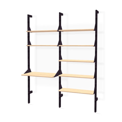 Branch Double Unit (1 X Unit 2 Shelves & 1 Desk/1 X Unit 5 Shelves)