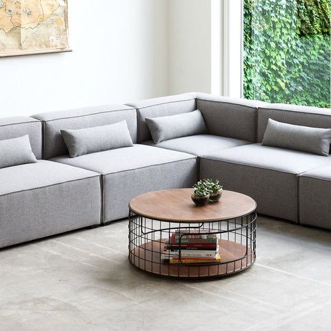<span style='color:white'>009D</span> Mix Modular Sectional 4-pc