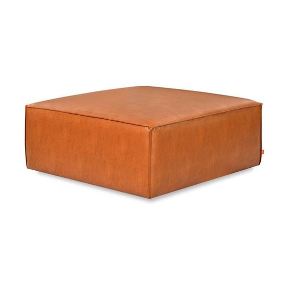Mix Modular Ottoman in Vegan Appleskin Leather Licorice