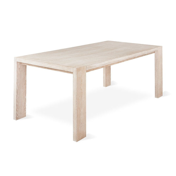 Plank Table with Nested Bench in White Wash Ash
