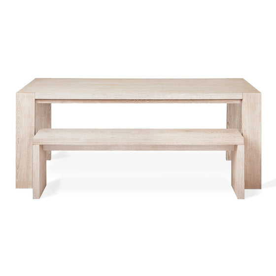 Plank Table in White Wash Ash