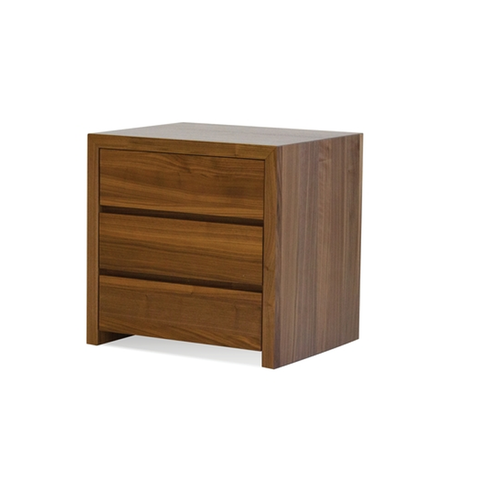 Blanche 3 drawer night stand walnut