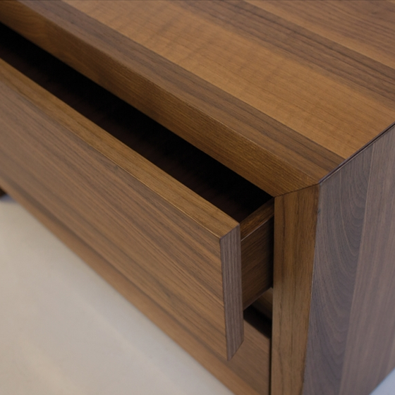 Blanche 2 drawer night stand walnut