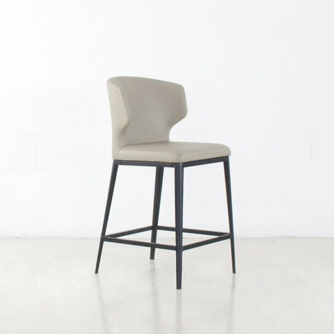 CABO LEATHERETTE Metal Stool