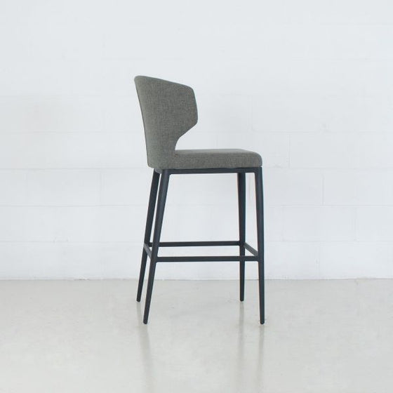 CABO COUNTER - FABRIC SEAT + METAL BASE STOOL