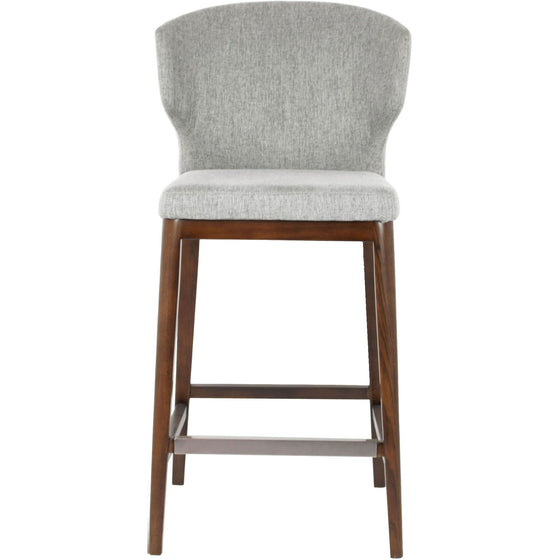 CABO BAR - FABRIC SEAT + WOOD BASE STOOL