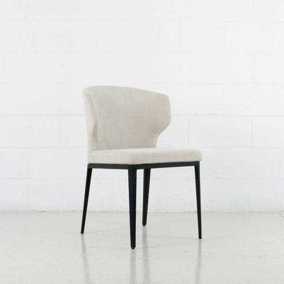 CABO DINING CHAIR - FABRIC SEAT + METAL BASE