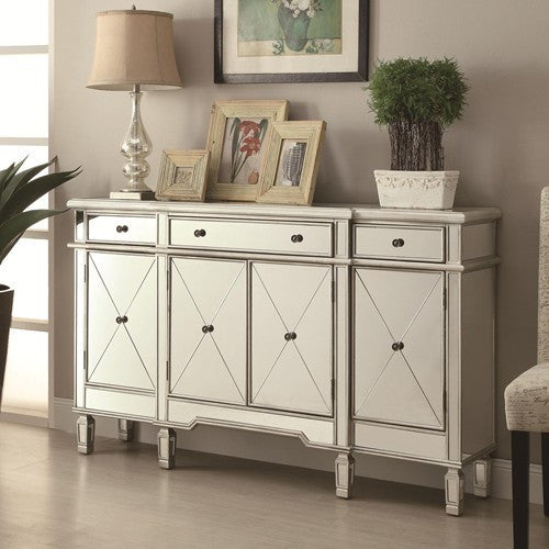 coaster 950275 mirrored accent storage cabinet | furnishing overstock