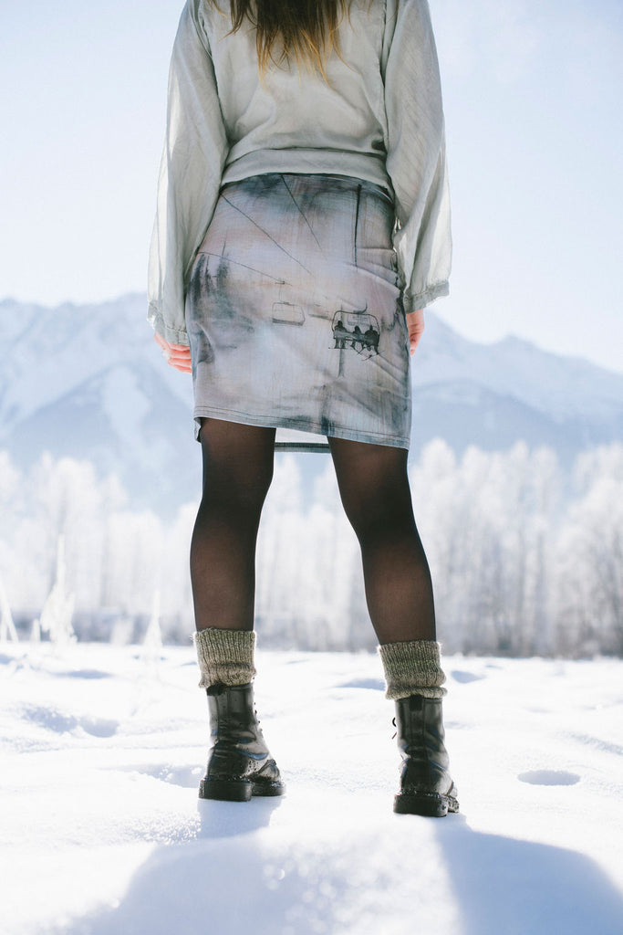 Chairlift Pencil Skirt